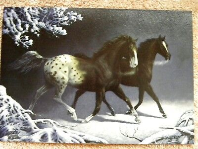 Vintage Leanin' Tree Chuck DeHaan 1992 horse Christmas cards NIB set of 6 RARE