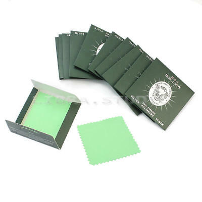 12 Pcs Velvet Jewelry Cleaning Polishing Cloth for Sterling Gold Pl FPC