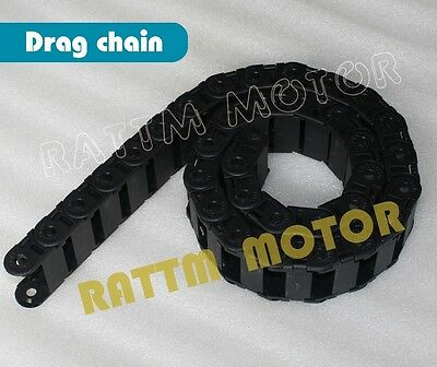 2X18x25mm Flexible Semi Enclosed Towline Drag Chain Cable for CNC Router Machine