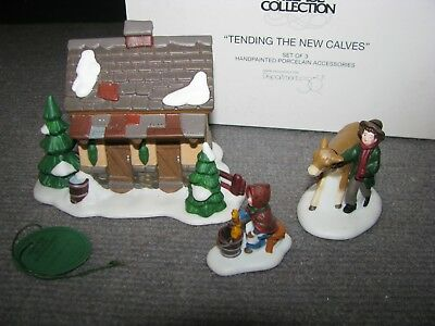 "Vintage Dept 56 Dickens Village ""Tending The New Calves"" #58395 Christmas"
