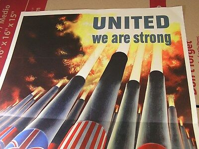 ORIGINAL World War II Poster - United We Are Stronger 1943 - MINTY  20 by 28