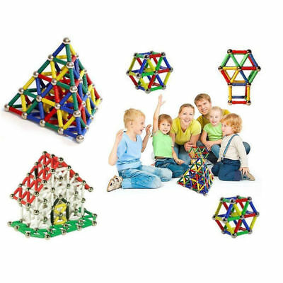 206Pcs Magnetic Building Blocks Sticks Construction Fancy Fun Toy For Kids Gifts