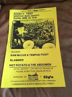 Vintage Summers First Lakefront Rock Concert Late 60s Early 70s unframed