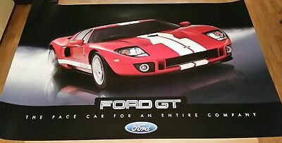 Ford GT 2018 poster double sided new