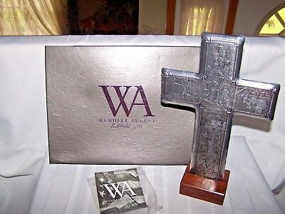 """Wendell August Forge Nativity Cross Hand Forged 10""""  6 3/4"""""""