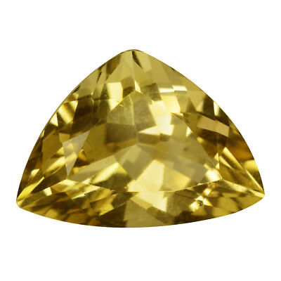 4.87Ct VVS Trillion Cut 14 x 10 mm 100% Natural Yellow Beryl