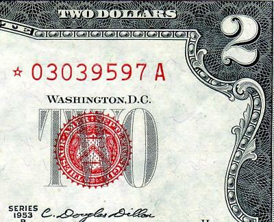 HGR SUNDAY 1953B $2 U.S.Note ***STAR*** ((2of2 Consec#)) GEM UNCIRCULATED