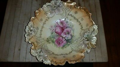 Prussia Vase and bowl 1850- 1890 hand painted excellent condition.