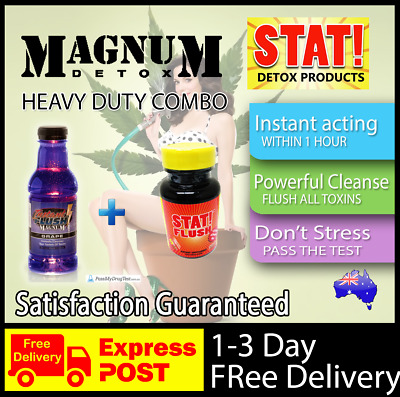 Magnum Detox Instant Flush + Stat Flush Capsules High Powered Combo To Pass Test