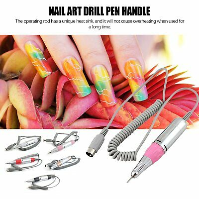 Electric Nail Art Drill Bit Pen Manicure Machine Handle Handpiece NailDrill FW
