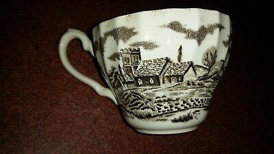 Royal Mail Fine Staffordshire Ironstone Brown Tea Cup
