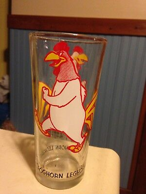 RARE Vintage 1973 Looney Tunes Pepsi Collectors Series Glass-Foghorn Leghorn