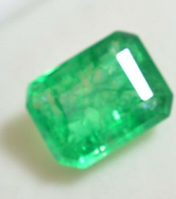 6.65 Ct Natural Emerald Cut Colombian Emerald GGL Certified Loose Gemstone