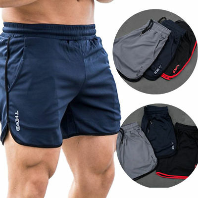 Men's GYM Shorts Training Running Sport Workout Casual Jogging Pants Trousers