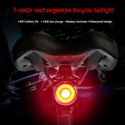 USB LED Bicycle Tail Light Smart Brake Induction Road Bike Rear Light Lamp AU