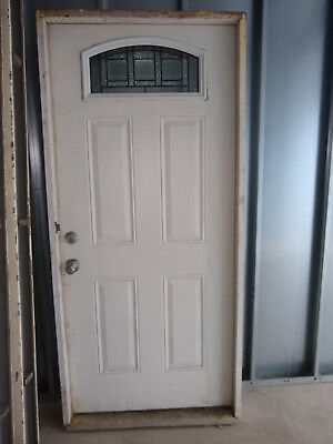 """Front Entry door with Wrought Iron Operable Tempered Rain Glass 72"""" x 35"""""""