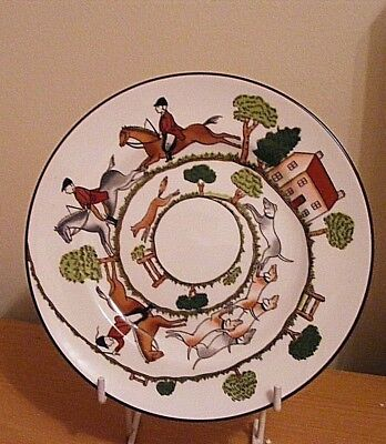 """Crown Staffordshire Hunting Scene 6-1/4""""side Plate Excellent Condition (B)"""