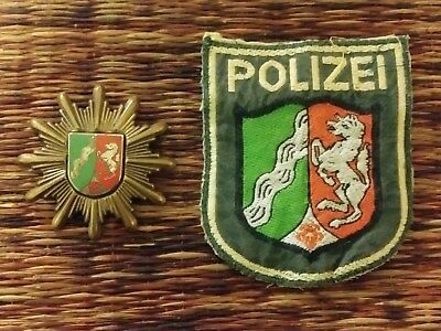 Old German Police Hat Badge and Patch set