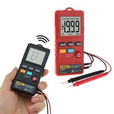 ANENG AN301 True-RMS Digital Multimeter 1999 Counts Ammeter Meter Test+LED  QA