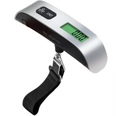 Electronic Portable Digital Luggage Scale Max 50kg Travel Hanging  LCD Weigher