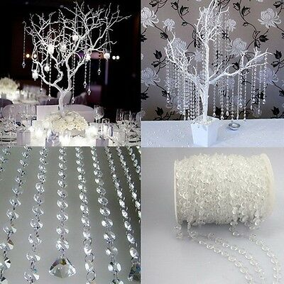 Crystal Transaperant Glass Bead String Hanging Pendants Party Door Curtain 10M E