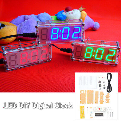 4-Digit LED Digital Electronic Micro Controller DIY Kits Clock Time