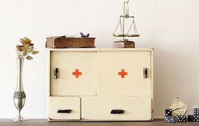 Apothecary Cabinet Red Cross Vintage Medicine Cabinet Old Apothecary Wall Chest
