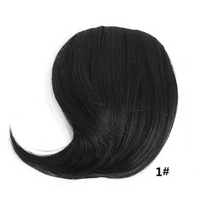Short neat bangs Clip on Front Neat Bang Fringe Clip in Hair Extension Bang E7C
