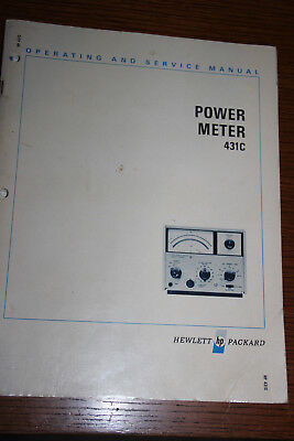 Operating and Service - Manual für Hewlett Packard Power Meter 431C
