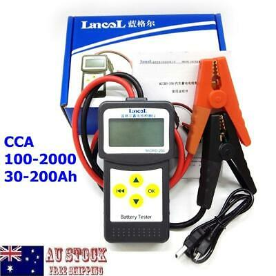 CCA100-2000 30-200Ah 12V Digital LCD Auto Car Universal Battery Tester MICRO-200