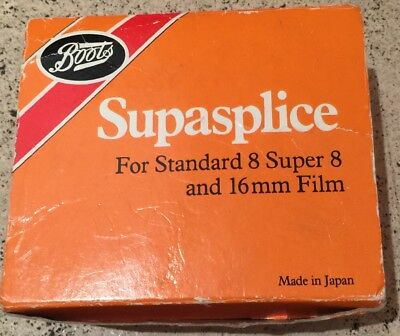 Vintage Boots Supasplice For standard 8, Super 8 and 16mm Film In Box
