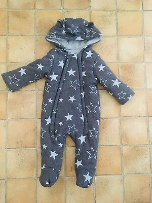 Boys 3-6 Month Baby Snowsuit Coat All In One