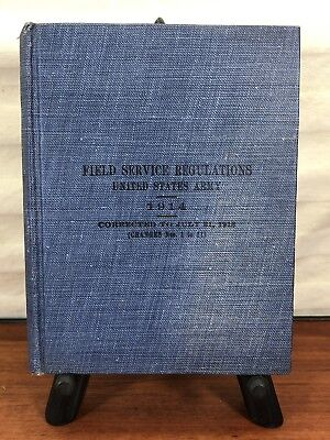 Vintage 1918 WWI Military Collectible U.S. Army Field Service Regulations Book