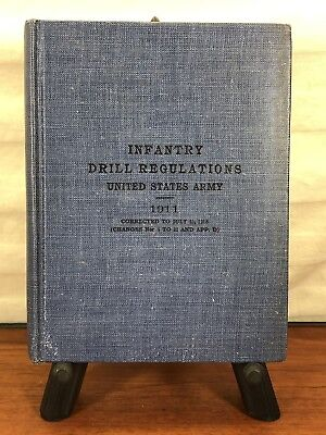 Vintage Military 1918 WWI Collectible U.S. Army Infantry Drill Regulations Book