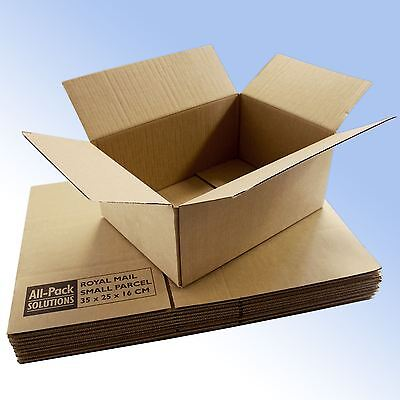 25 Royal Mail Small Parcel postal mailing boxes 350x250x160mm