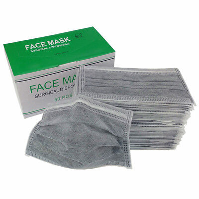 10x Unisex Anti-dust Mask Cotton Breath Mouth Face with Filter Respirator PM2.5