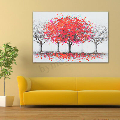 Colorful Tree Canvas Print Painting Wall Art Oil Picture Home Decor Unframed AU