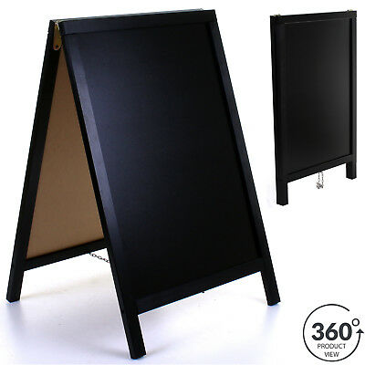 Wooden Chalk Board Blackboard Sign A-Board Pavement Pub Shop Cafe Display Stand