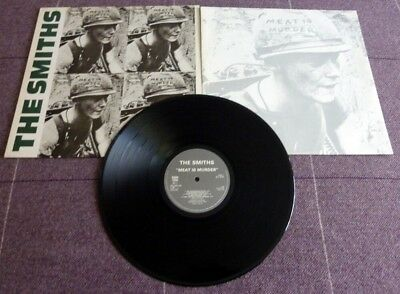 The Smiths-Meat Is Murder First Issue 1985 Rough Trade Lp With Inner Sleeve.