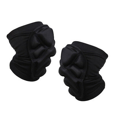 Pair Black Knee Pads Construction Work Sport Safety Gel Leg Protectors -XXL