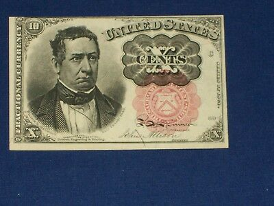 10c US Fractional Note. F1