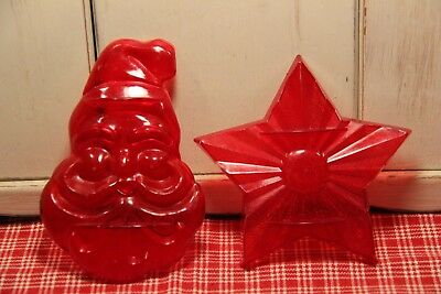 Vintage Aunt Chick's Santa & Star Christmas Cookie Cutters!