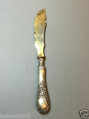 RARE RUSSIAN 84 SILVER EMPIRE ANTIQUE 1870-1910 FLATWARE GOLD PLATED 44,1 gr