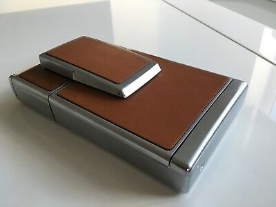 Vintage Polaroid SX-70 Land ( Working )CameraTan and Chrome With Leather Case