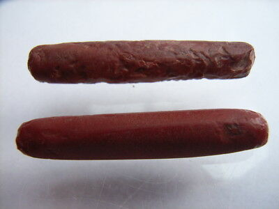 2 Ancient Neolithic Red Jasper Ear Plugs, Stone Age, VERY RARE !!