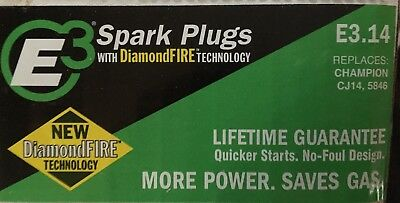 Box Of 6 New E3 Spark Plugs E3.14 Small Engine and Lawn & Garden Spark Plugs