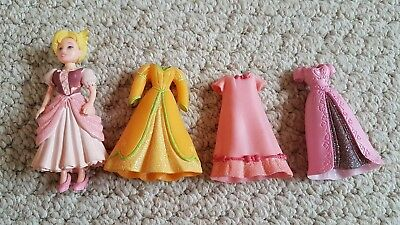 Polly pocket disney princess doll plus shoes and 3 spare dresses stocking filler