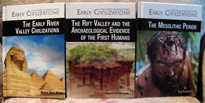 Lot of 3 from First Humans and Early Civilizations, series from: Rosen Publishin