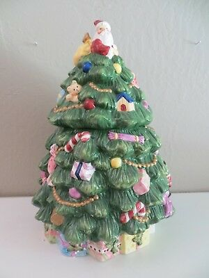 Spode Christmas Tree Cookie Jar / Hand painted
