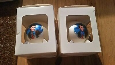 Lot of 2 RARE CLAY AIKEN 2004  TOUR Christmas Ornaments